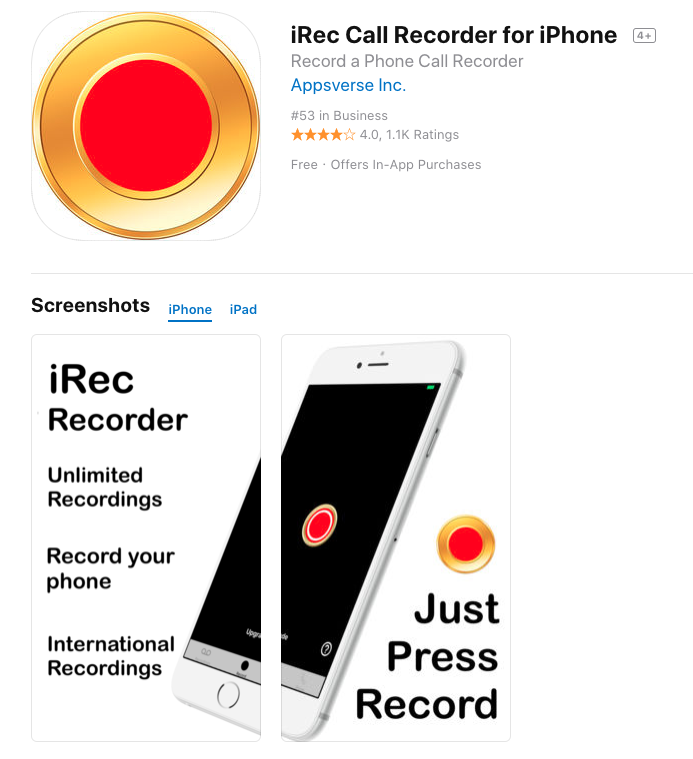 How to record incoming call on iPhone without app