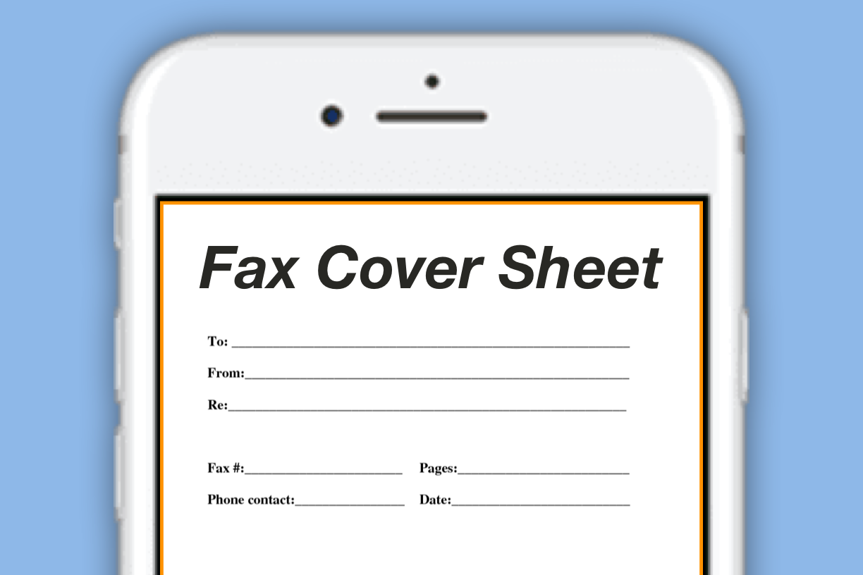 How To Generate Office Fax Cover Sheets Directly From Your IPhone