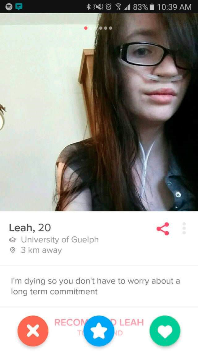 Check this out: 10 Funny Tinder bio one-liner examples for